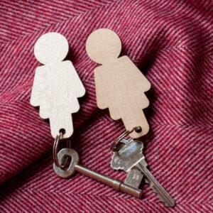 Home Sweet Home - Girl/Girl Key Holder