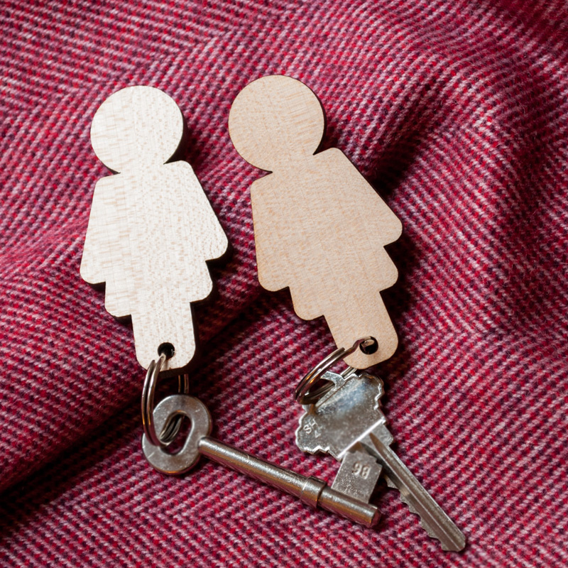 Home Sweet Home - Girl/Girl Key Holder