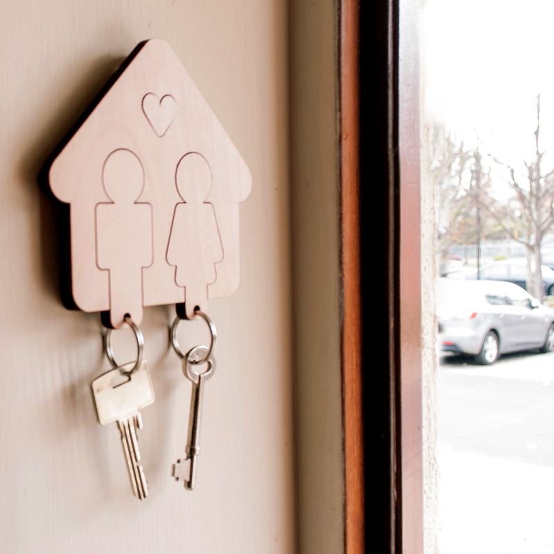 Home Sweet Home - Boy/Girl Key Holder