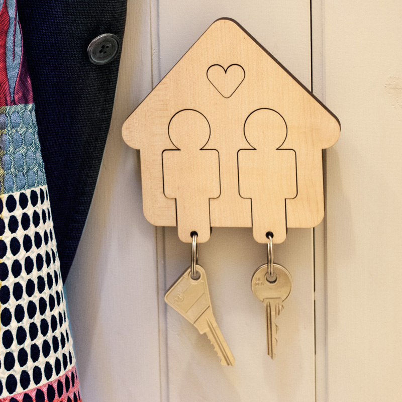 Home Sweet Home - Boy/Boy Key Holder