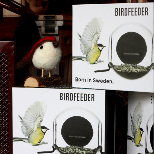 Born in Sweden Bird Feeder