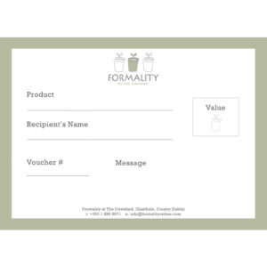 Formality Email Gift Voucher