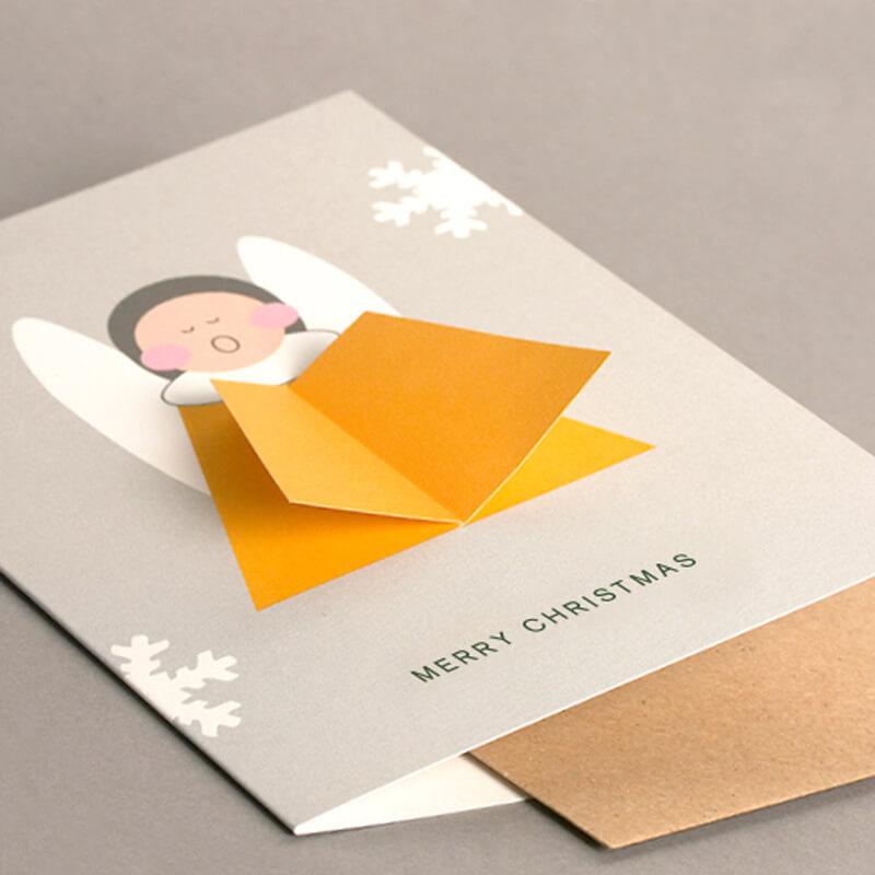 3D Angel Card