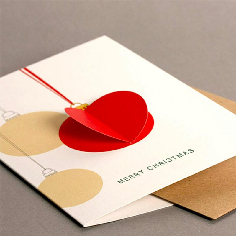 3D Bauble Card