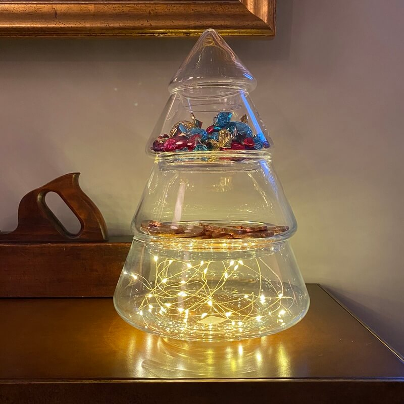 Christmas Tree Bonbon Jar