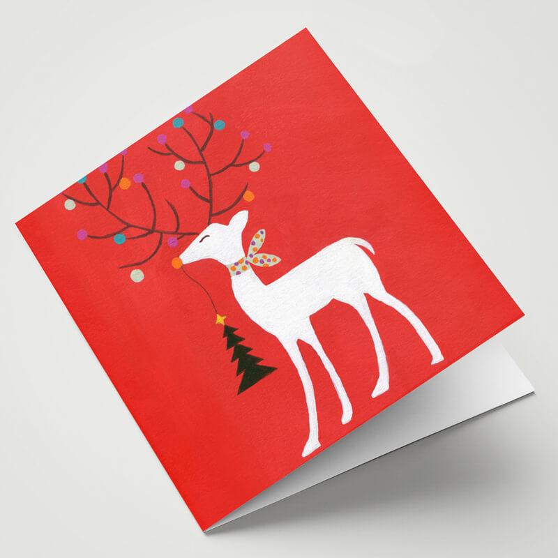 Maggie O'Dwyer Reindeer Card