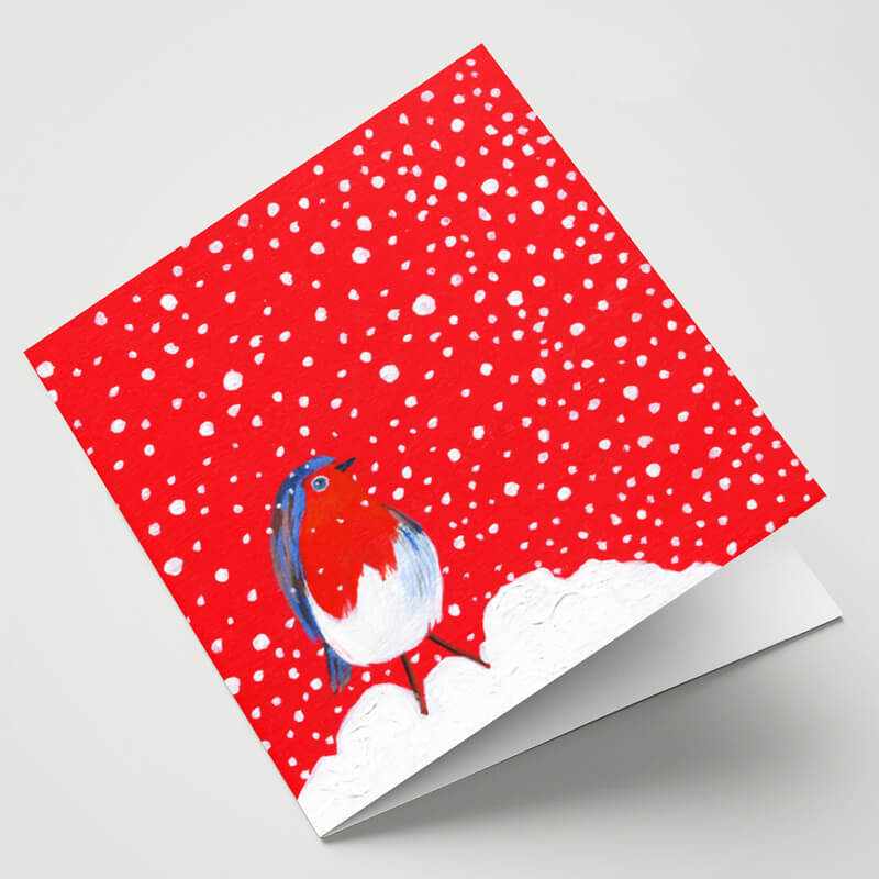 Maggie O'Dwyer Robin in Falling Snow Card