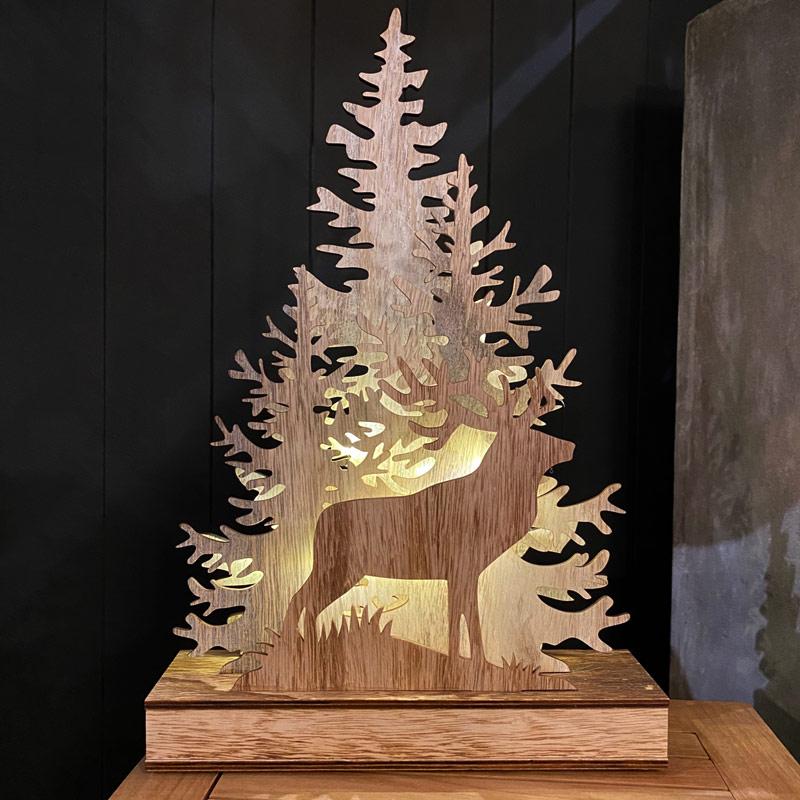 LED Forest Scene