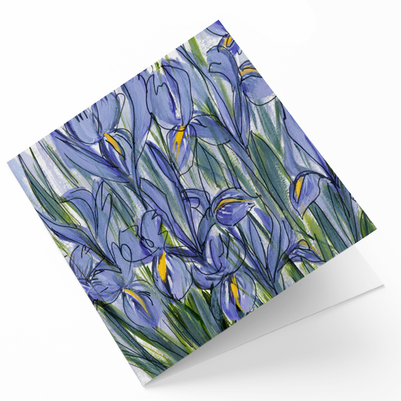 Maggie O'Dwyer Art Cards - Irises (Iris reticulate)