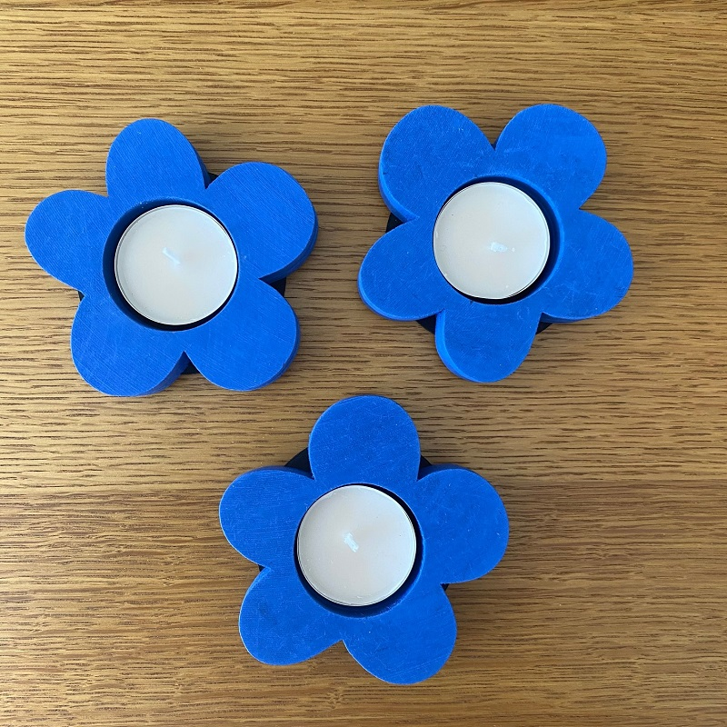 Wooden Flower Tealight